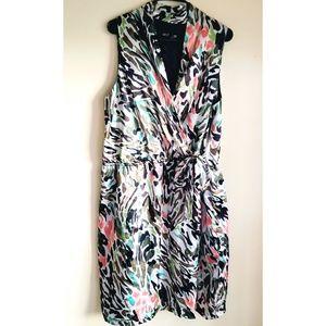 Lane Bryant Sleeveless V Neck tie waist Dress
